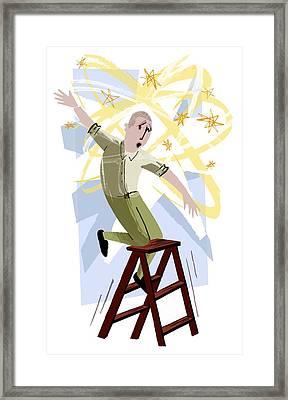 Vertigo, Conceptual Artwork Framed Print by Paul Brown