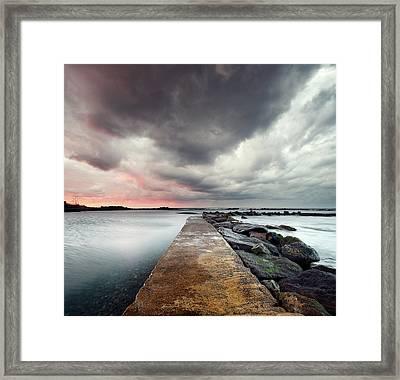 Vertorama Pool Framed Print by Www.ginomaccanti.com