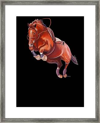 Very Free Jump On Course Framed Print