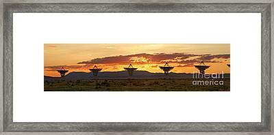 Very Large Array At Sunset Framed Print by Matt Tilghman