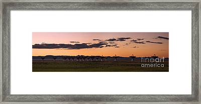 Very Large Array Panorama Framed Print by Matt Tilghman