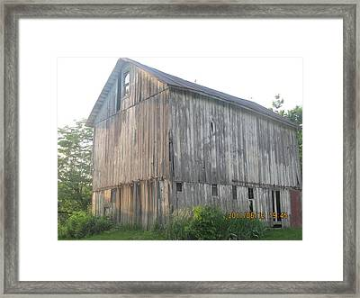 Framed Print featuring the photograph Very Old Barn by Tina M Wenger