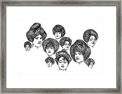 Very Pretty Lady Faces Framed Print by Karl Addison