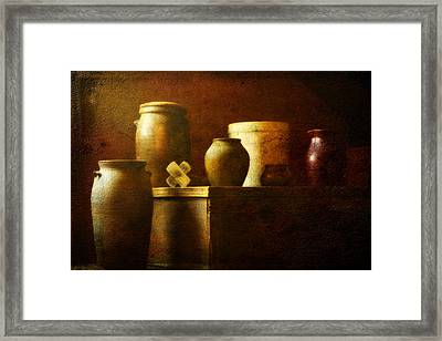 Vessels Framed Print by Sue Henry