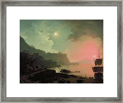 Vesuvius From Posillipo Framed Print by Joseph Wright of Derby