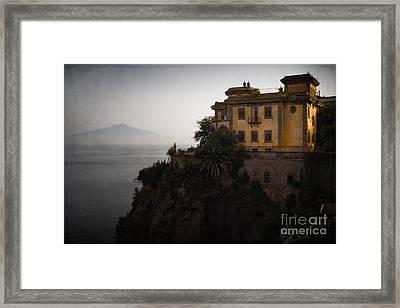 Vesuvius From Sorrento Framed Print