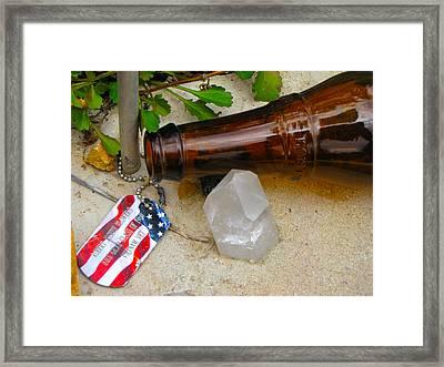Veteran Remembered Framed Print by Feva  Fotos