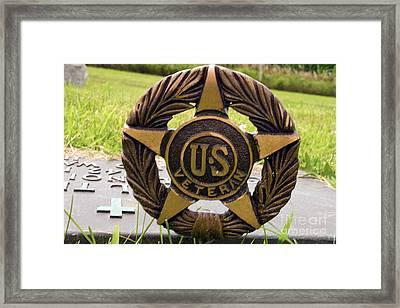 Veterans Wreath Framed Print