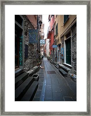 Via Del Italia Framed Print