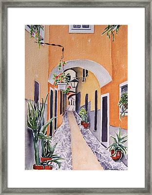 Via Grimaldi Saleri Framed Print by Regina Ammerman