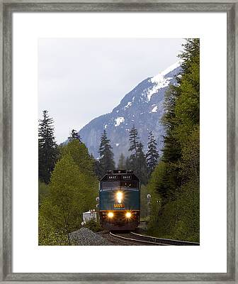 Framed Print featuring the photograph Via Rail Canada by Sylvia Hart