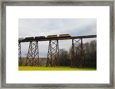 Viaduct Series-spring Framed Print by Cheryl Helms