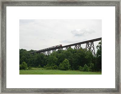 Viaduct Series-summer Framed Print by Cheryl Helms