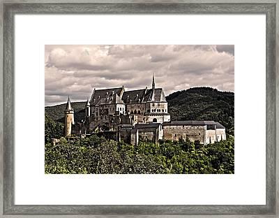 Vianden Castle - Luxembourg Framed Print by Juergen Weiss