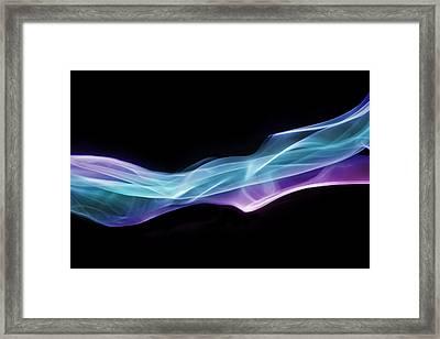 Vibrant Blue Smoke Framed Print