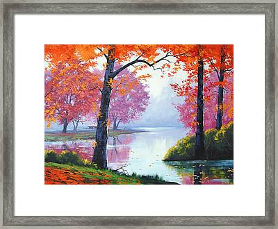 Vibrant Colours Framed Print by Graham Gercken