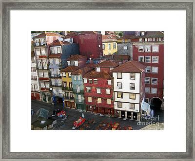 Vibrant Porto Framed Print by Arlene Carmel