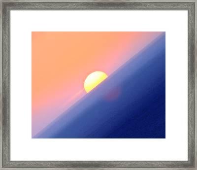 Vibrant Sun Framed Print