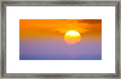 Vibrant Sunset Framed Print