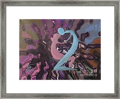 Vibrations-mixed Media Framed Print by Ketti Peeva