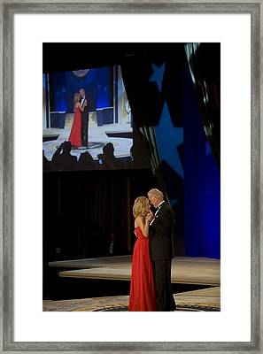 Vice President Joe Biden And Dr. Jill Framed Print by Everett