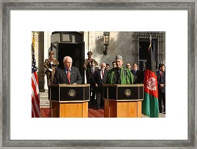 Vice President Richard B. Cheney Left Framed Print by Everett