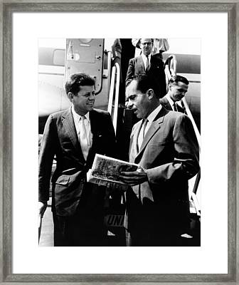 Vice-president Richard Nixon Right Framed Print by Everett