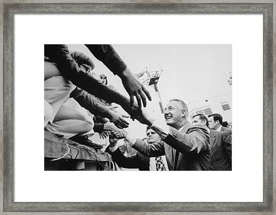 Vice President Spiro Agnew Campaigning Framed Print