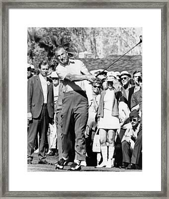 Vice President Spiro Agnew Golfing Framed Print by Everett