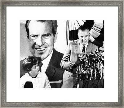Vice Presidential Candidate Spiro Agnew Framed Print