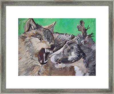 Vicious Rumors Framed Print by Krista Ouellette