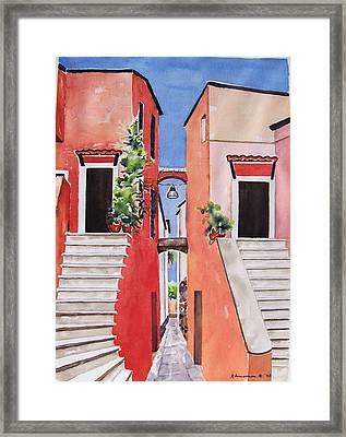 Vico Giardini Framed Print by Regina Ammerman