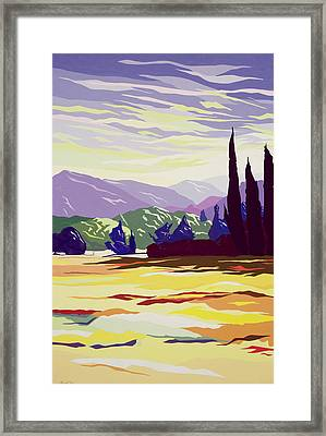 Vicopelago - Lucca Framed Print by Derek Crow