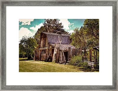 Vic's Old Barn Framed Print by David Patterson