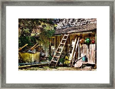 Vic's Old Barn IIi Framed Print by David Patterson