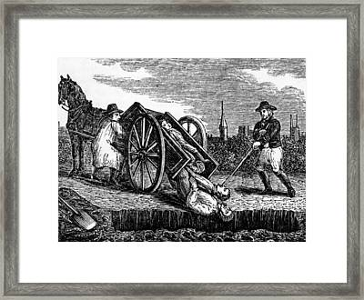 Victims Of The Black Plague Framed Print by Everett