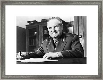 Victor Bolkhovitinov, Aircraft Designer Framed Print by Ria Novosti