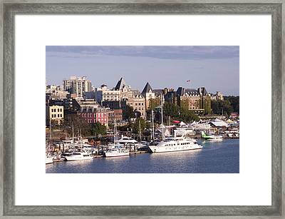 Victoria B.c. Cityscape Framed Print by MaryJane Armstrong