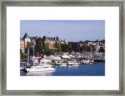 Victoria B.c.'s Inner Harbor Framed Print by MaryJane Armstrong
