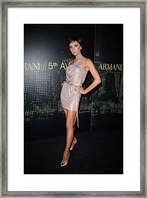 Victoria Beckham Wearing Armani Dress Framed Print by Everett