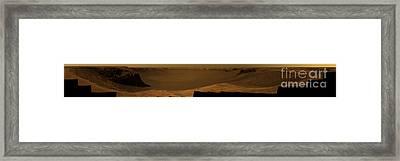 Victoria Crater, Mars Framed Print