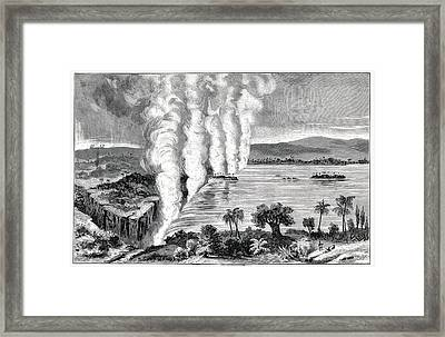 Victoria Falls, 19th Century Framed Print by Cci Archives