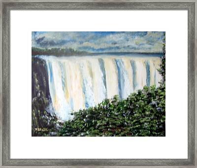 Victoria Falls Framed Print by M Bhatt
