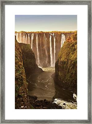 Victoria Falls Framed Print by Rob Verhoeven & Alessandra Magni