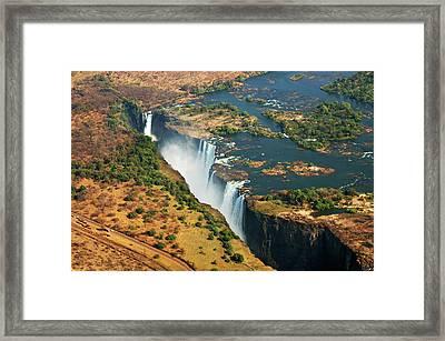 Victoria Falls, Zambia Framed Print by © Pascal Boegli