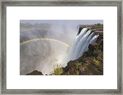 Victoria Falls, Zambia, Africa Framed Print by Yvette Cardozo