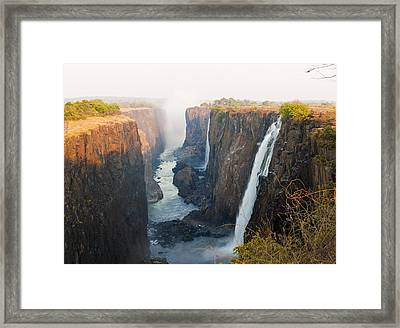 Victoria Falls, Zambia, Southern Africa Framed Print by Peter Adams