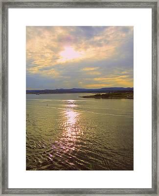 Victoria Harbor Sunset Framed Print
