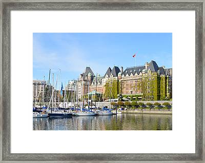 Victoria Vancouver Island Hotel Framed Print by Ann Marie Chaffin
