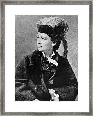 Victoria Woodhull 1838-1927, Early Framed Print by Everett